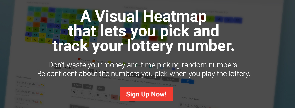 LotteryHeat is a visual map of what lottery numbers are hot and use them to win