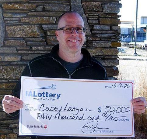 Casey Langan Powerball Winner